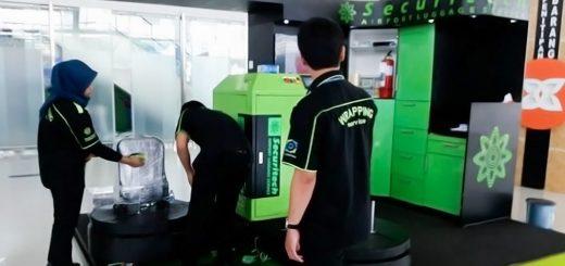 Jasa Pembungkusan Bagasi di Bandara Internasional Sultan Aji Muhammad Sulaiman Sepinggan Balikpapan 1
